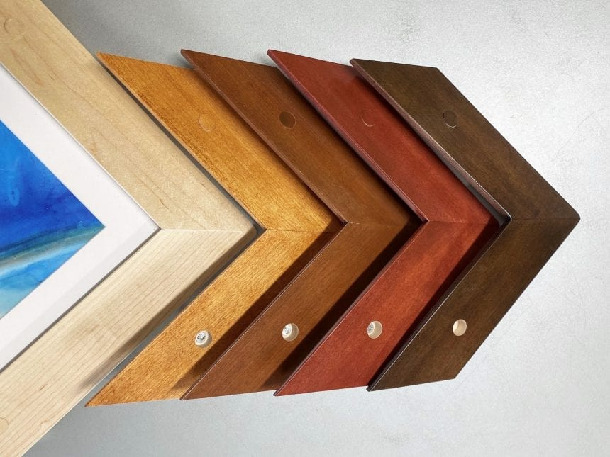 Our ligature resistant frame profiles are excellent choices for behavioral health facilities, and highly trafficked areas that need framed paper artwork with a bit more than average security. They are constructed using select hard maple wood and can be stained to match a wide variety of wood finishes.