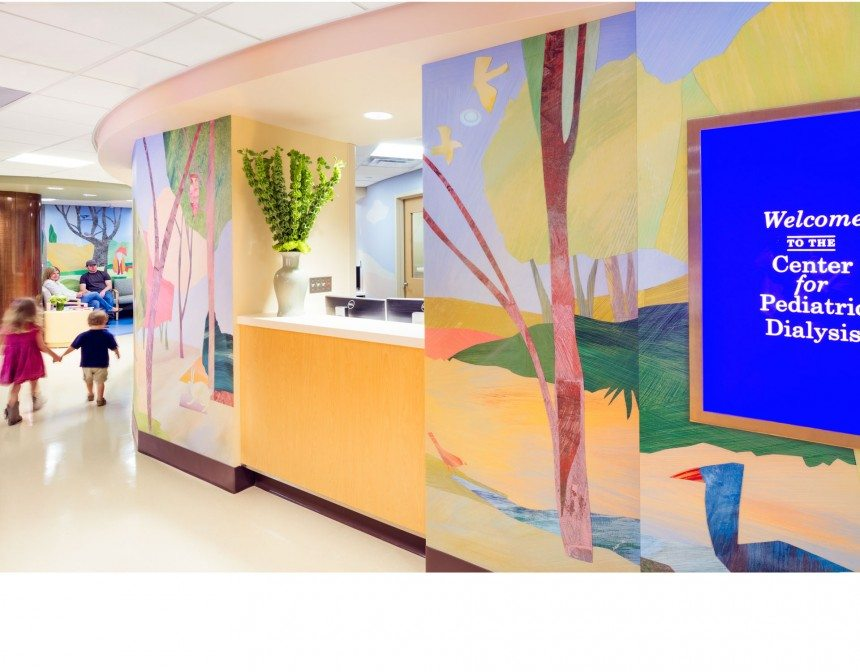 Wall murals at Children's Health Nephrology translated from digital scans to printed wall coverings